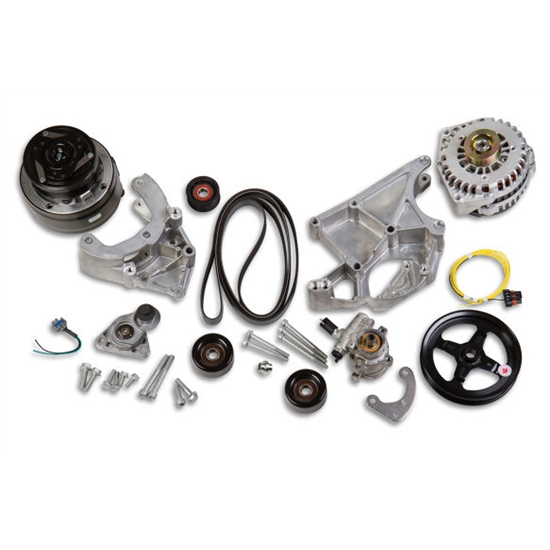 Holley 20-136 LS Complete Accessory Drive Kit w/R4 A/C Compressor