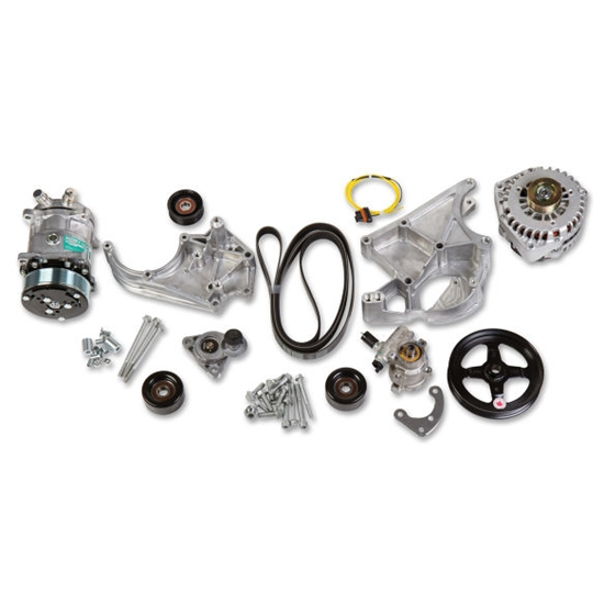 Holley 20-137 LS Complete Accessory Drive Kit w/SD508 A/C Compressor