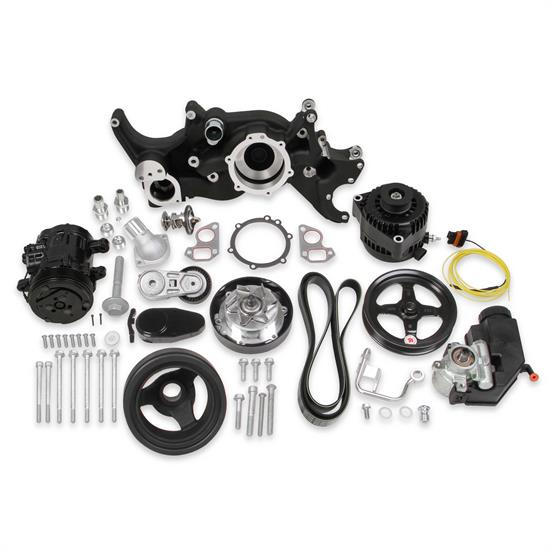Holley 20-185BK LS Engine Accessory Drive Kit, Mid Mount