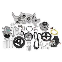 Holley 20-185 Mid-Mount Complete Accessory System, LS Engine