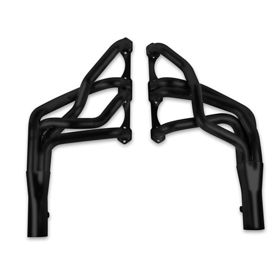 Hooker 2104-3HKR Long Tube Header, 10 Inch Length, Black Ceramic