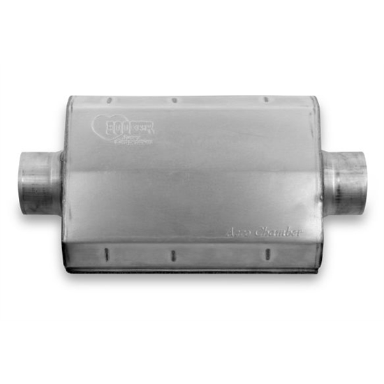 Hooker 21507HKR Aero Chamber Muffler, 3-1/2 Inch Center In/Out