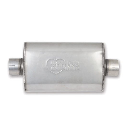 Hooker 21646HKR VR304 SS Muffler, Single 3 Inch Center Inlet