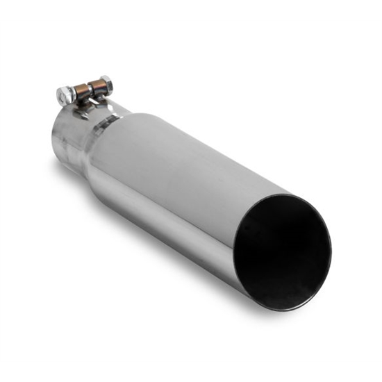 Hooker 22202HKR Single Tip Slant Cut Style Exhaust Tip, Large Bore