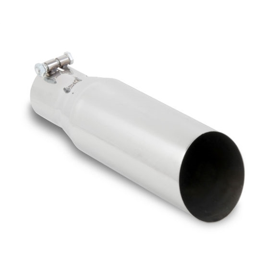 Hooker 22208HKR Single Tip Slant Cut Style Exhaust Tip, Large Bore