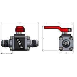 Earls 230506ERL UltraPro Ball Valve -6 AN Male to Male