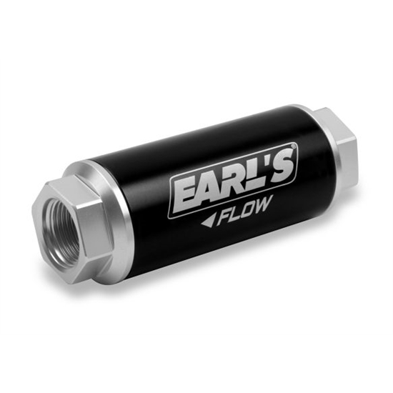 Earls 230620ERL HP Billet Fuel filter, 40 micron, 260 GPH