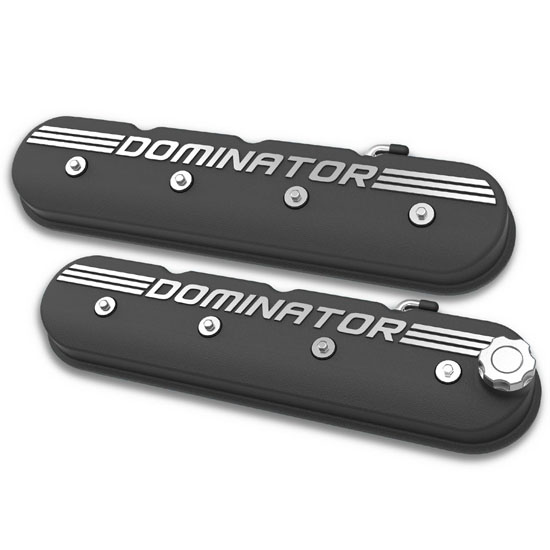 Holley 241-120 LS Aluminum Valve Covers, Satin Black Finish