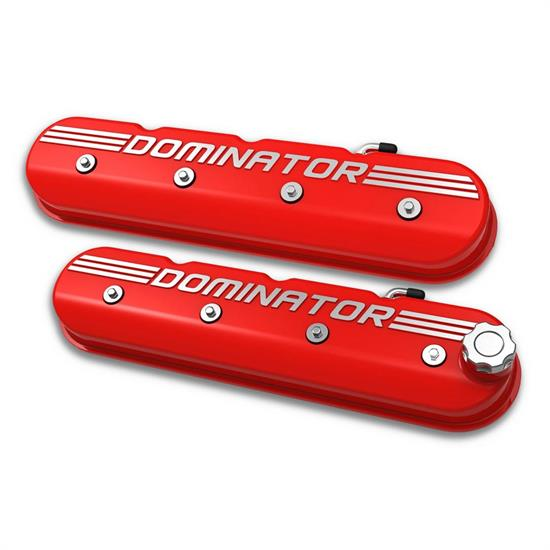 Holley 241-121 Aluminum Tall LS Valve Covers, Gloss Red Finish