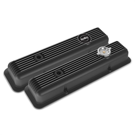 Holley 241-135 Muscle Series Valve Covers, SBC, Black Finish