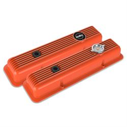 Holley 241-136 Muscle Series Valve Covers, SBC, Factory Orange
