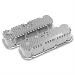 Holley 241-151 Tall M/T Valve Covers, BBC, Polished Finish