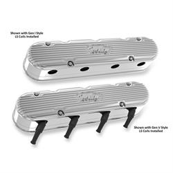 Holley 241-171 2-Piece LS Vintage Series Valve Covers, Polished