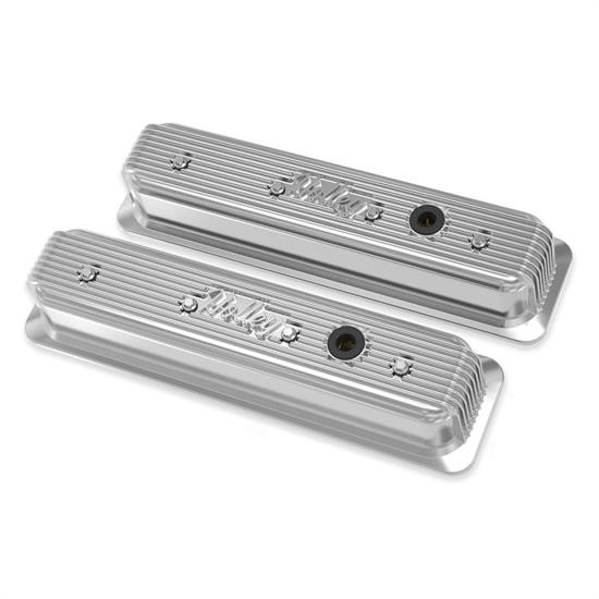 Holley 241-248 Finned Valve Covers, SBC, Polished