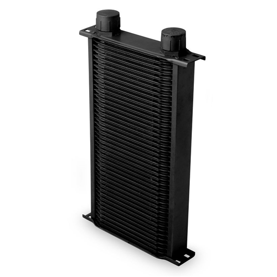 Earls 24216AERL 42 Row Oil Cooler, -16 AN, Black