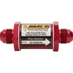Earls 251008ERL Check Valve Flapper Style, Reinforced Viton  -8 AN