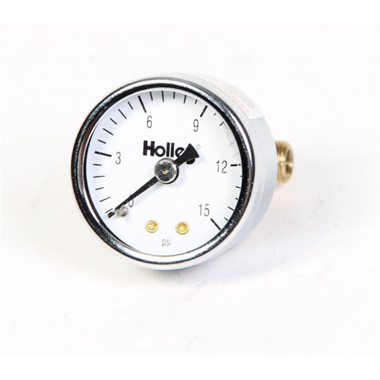 Holley 26-500 Mechanical Fuel Pressure Gauge, 0 - 15 PSI