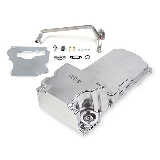 Holley 302-1P LS Swap Retro-Fit Oil Pan - Polished