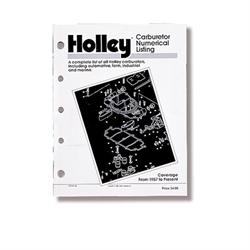 Holley 36-168 Carburetor Numerical Listing Manual