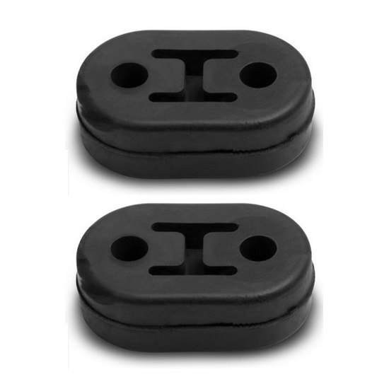 Hooker 41163HKR 2-Hole Rubber Isolator, 1/2 Inch, 2-Pack