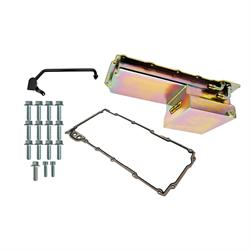 Weiand 5029WND LS Swap Oil Pan, Fabricated, GM LS  Gold