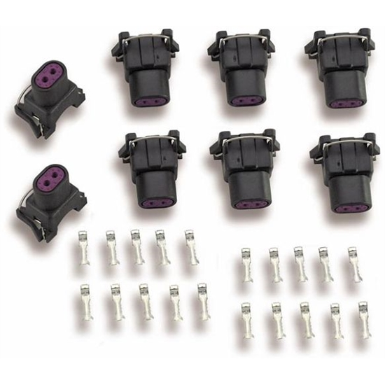 Holley 534-112 Fuel Injector Connectors and Terminals, Set of 8