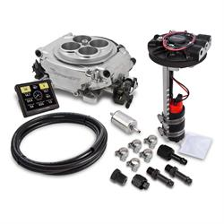 Holley Sniper 550-510D EFI Returnless Master Kit, Shiny Finish