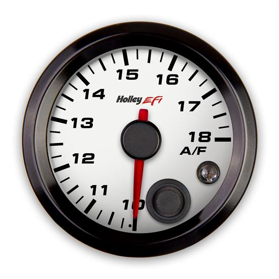 Holley EFI 553-131W EFI Air/Fuel Left Gauge, 2-1/16 Inch, White/Black
