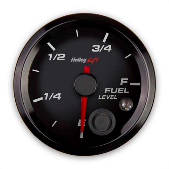 Holley EFI 553-133 EFI Fuel Level Gauge, 2-1/16 Inch, Black/Black
