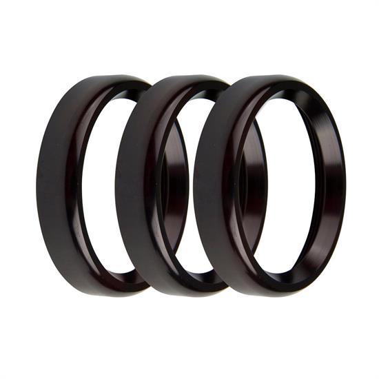 Holley EFI 553-145BKB Replacement Bezels, 2-1/16 Inch, Black, Blold