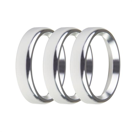 Holley EFI 553-145SB Replacement Bezels, 2-1/16 Inch, Silver, Bold