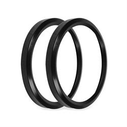 Holley EFI 553-146BK Replacement Bezels, 3-3/8 Inch, Black