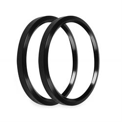 Holley EFI 553-147BK Replacement Bezels, 4-1/2 Inch, Black
