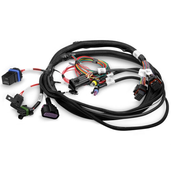 holley 558 414 replacement main wiring harness for terminator efi kits rh speedwaymotors com holley projection wiring harness holley efi wiring harness diagram