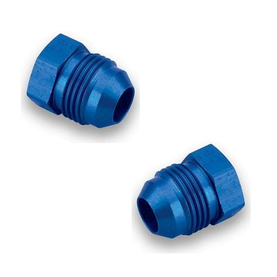 Earls 580606ERL -6 AN Plug, Blue Anodized, Aluminum Construction