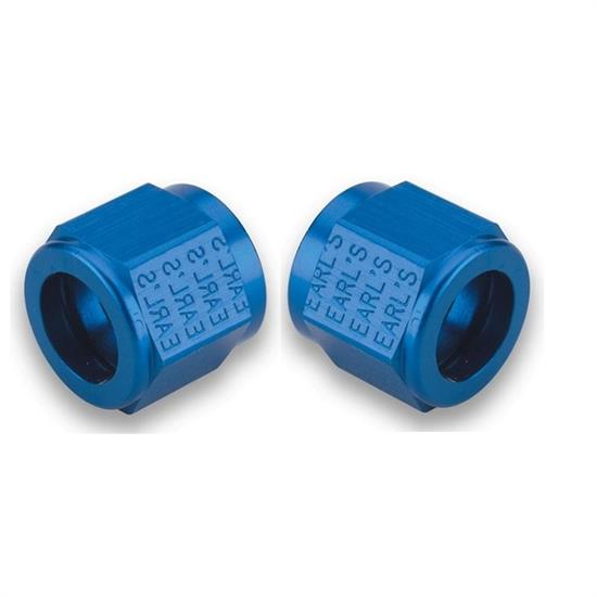 Earls 581804ERL Aluminum Tube Nut, -4 AN, Blue Anodized