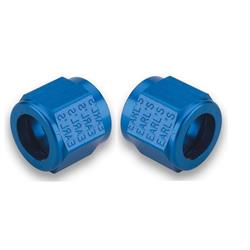 Earls 581806ERL Aluminum Tube Nut, -6 AN, Blue Anodized
