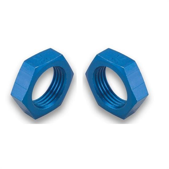 Earls 592404ERL Bulkhead Nut, -4 AN, Blue Anodized, Aluminum