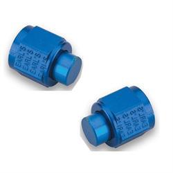Earls 592904ERL -4 AN Cap, Blue Anodized, Lightweight Aluminum