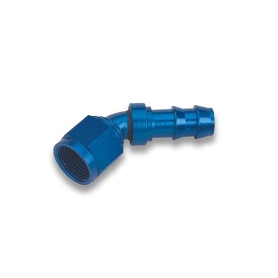 Earls 704667ERL 45 Degree -6 AN Female to 3/8 Inch Barb Adapter