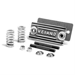 Weiand 7157P Polished Supercharger Pop Off Plate, Front of Manifold