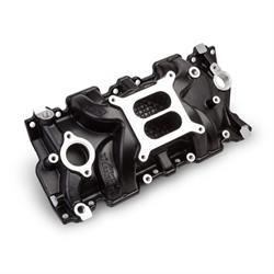 Weiand 8120BK Black Intake Manifold Non-EGR 262-400ci, 55-86 Heads