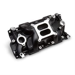 Weiand 8150BK Black Intake Manifold Non-EGR 262-400ci, 55-86 Heads
