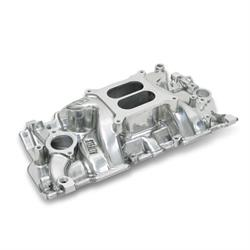 Weiand 8170P Intake Manifold Non-EGR 262-400ci, Cast Iron Heads