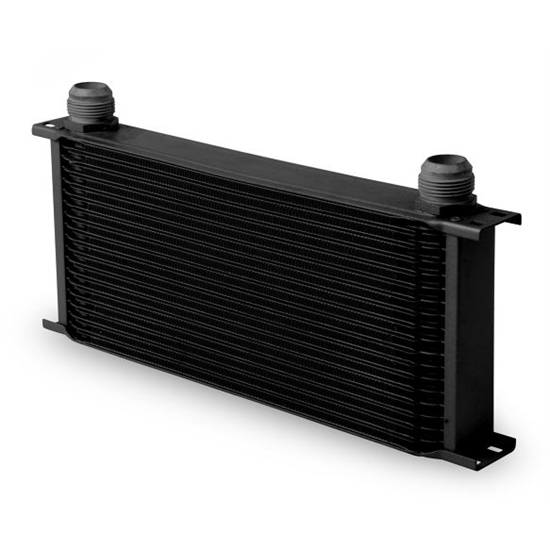 Earls 81900AERL Black -10 AN 19 Row Oil Cooler, Extra Wide
