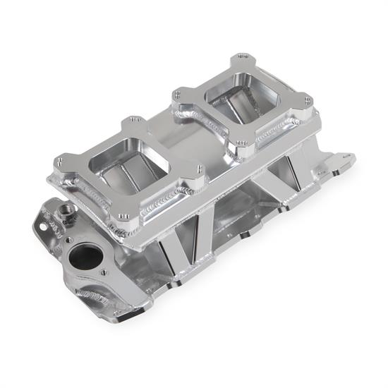 Holley Sniper 825071 Sheet Metal Intake Manifold, SBC, Silver