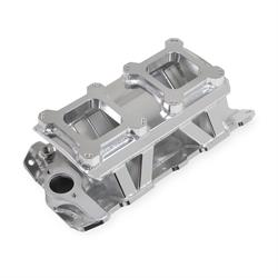 Sniper 825071 Sheet Metal Fabricated Intake Manifold, SBC, Silver
