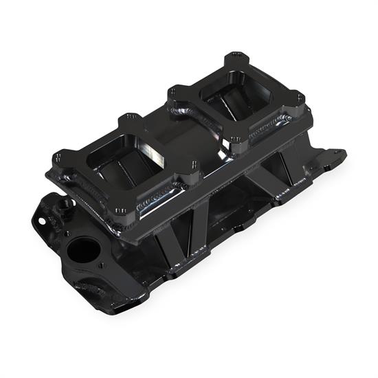 Holley Sniper 825072 Sheet Metal Intake Manifold, SBC, Black