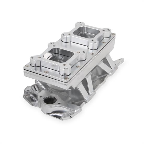 Holley Sniper 825123 Sheet Metal Intake Manifold, 2x4150, Silver