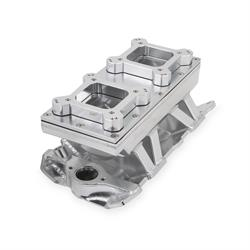 Sniper 825123 Sheet Metal Fabricated Intake Manifold, 2 x 4150, Silver
